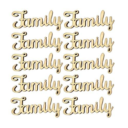 oshhni 10 Piezas de Madera Palabras Familiares Desarrollo Creativo Fiesta Decorativa Dulce Familia DIY
