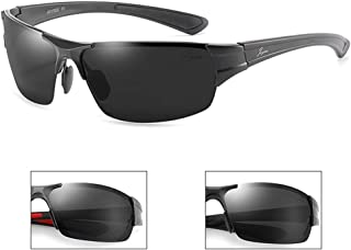 ZMP Aluminum-Magnesium Polarized Sports Sunglasses Frameless Ultra-Light Lens Sunglasses (Color : 1)