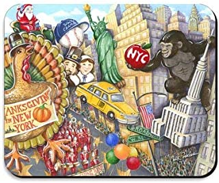 Thanksgiving Day Parade Mousepad 8 x 10 Inch NYC Thanksgiving Mouse Pad