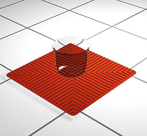 D&N Laborunterlage 25x25cm – Rot | Silikonmatte | Labormatte