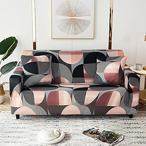 Funda Sofas 2 y 3 Plazas Oro Rosa Fundas para Sofa con Diseño Elegante Universal,Cubre Sofa Ajustables,Fundas Sofa Elasticas,Funda de Sofa Chaise Longue,Protector Cubierta para Sofá