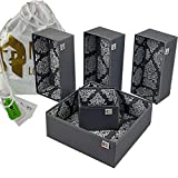 Metis London Ltd Set of 5 Drawer Organisers, Made from Recycled Plastic Bottles & Packaged in Dupont Tyvek Drawstring Bag