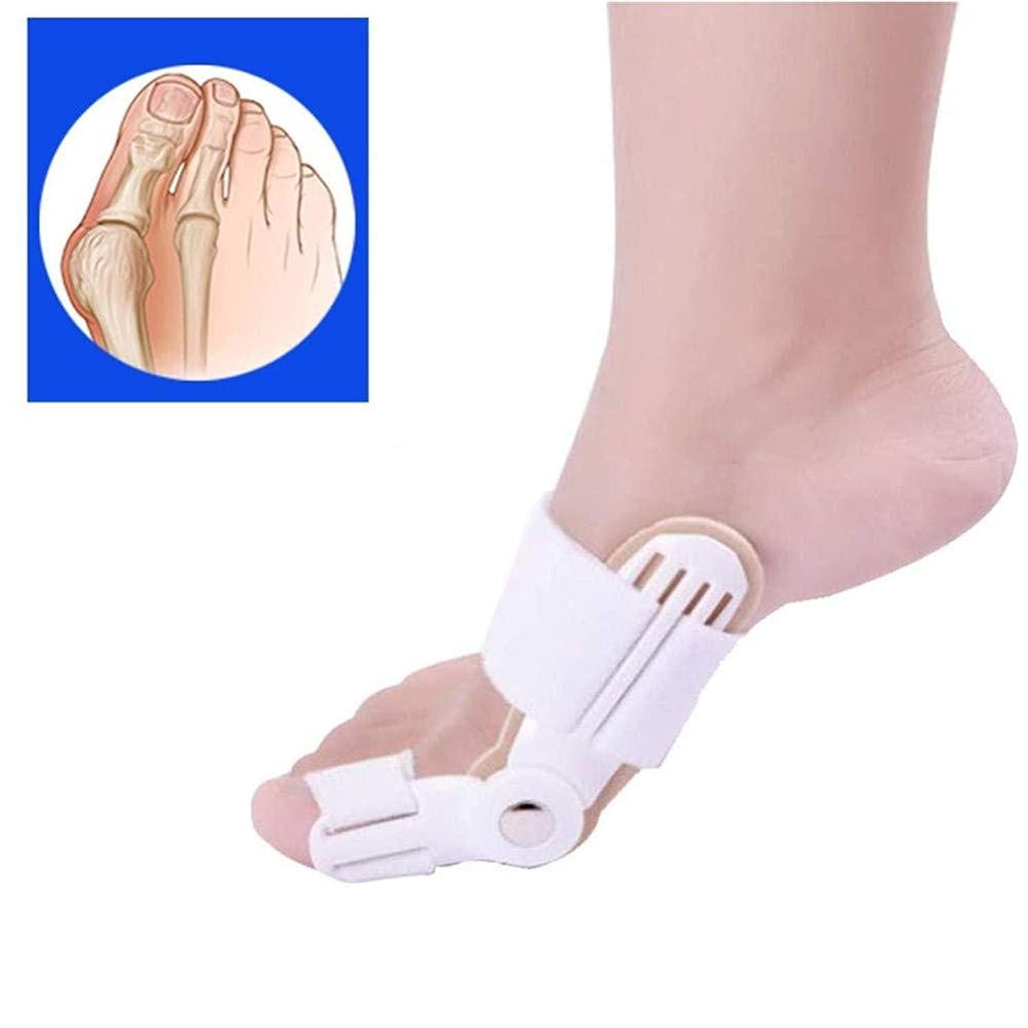 慢文芸バッテリーつま先の添え木、足の親指の矯正、外反母hallセパレーター、滑液包炎緩和プロテクター、つま先の関節スペーサー、矯正の痛み