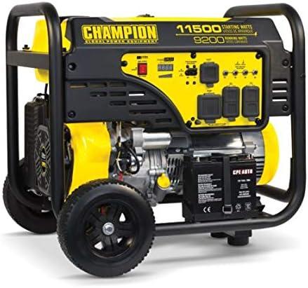 high quality 100110- 2021 9200/11,500w Champion Generator, high quality electric start online sale
