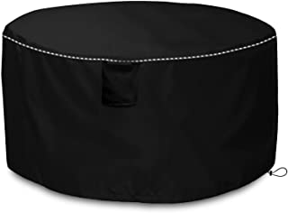 Mr.You Round Deck Boxes Covers,Round Outdoor Storage Table Deck Box Cover (Black,28in)
