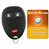 Discount Keyless Replacement Key Fob Car Remote Compatible with KOBGT04A, 15777636