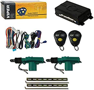 Viper 3100VX 1-Way Car Alarm System with 2 Remotes & Keyless Entry + DiscountCentralOnline Universal Door Lock Actuator 2 Wire