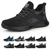 TQGOLD Zapatos de Seguridad para Hombre Mujer S3 Ligeros Comodos Zapatos de Trabajo(Negro,Tamaño 45)