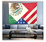 HYDDAXJW Tapisserie Abstract Decoración De Dormitorio Colgante De Pared De Bandera De México Estados Unidos México 200X220Cm