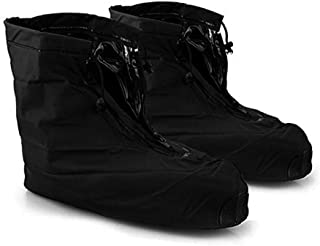 DiDaDi Shoe Covers Waterproof Reusable Rain Shoes Cover Cycling Non Slip Skid Washable Shoes Covers Boots Protector with Zipper Grip Rubber for Travel Running Walking XXL(Women: 9.5-11'' Men: 8-9.5'')
