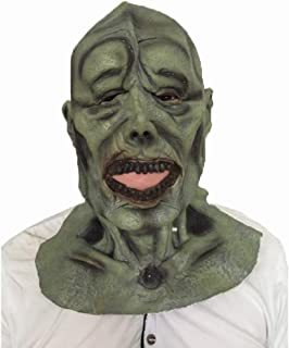 WANJU AU Halloween Scary Scary mask All Inclusive Green face mask mask