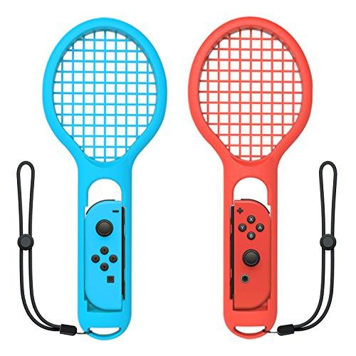 Raqueta de tenis para Nintendo Switch Joy-Con Controller, accesorios para Nintendo Switch Game Mario Tennis Aces azul y rojo – solo para el modo Swing en Nintendo Switch