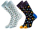 TooPhoto Mens Funny Crazy Socks Novelty Casual Cotton Cool Funky Crew Colorful Party pharmacy square 2 pairs