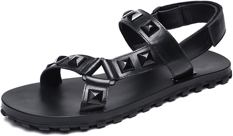 JIANXIN Rivet Sandalen Männer Sommer Wilde Römische Schuhe Männer Persönlichkeit Leder Atmungsaktiv Casual Sandalen Männer Slip Gezeiten (größe   EU 44 US 14 UK 12)  | Up-to-date Styling
