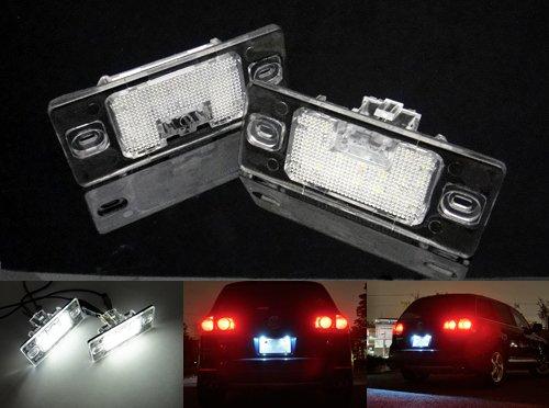 2 lampes LED blanches de plaque d'immatriculation pour les modèles Cayenne 955 957, Touareg 7L, Tiguan, Passat 3B6, Golf V Break