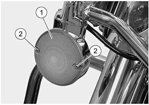 "PerfecTech 4 Pcs 3 1/4"" Touring OEM Flat Black Smoked Turn Signal Lenses+Amber Bulbs for Harley Davidson Electra Glides Road King"