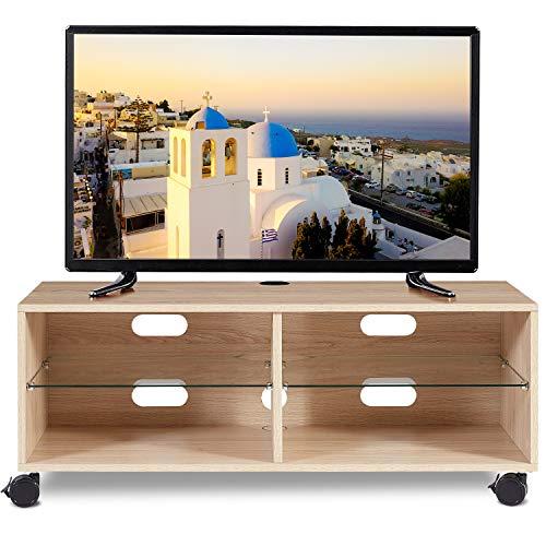 RFIVER Mueble TV Modular con Ruedas de Color Roble 110x40x44 TS5001