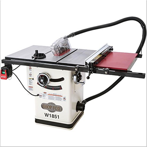 Shop Fox W1851 2 HP 10-Inch Hybrid Cabinet Table Saw with Extension Table