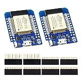 KeeYees 2 Pack ESP32 Actualización Mini WiFi + Bluetooth Módulo Desarrollo de Internet Placa Chip ESP-WROOM-32 para NodeMCU para Arduino