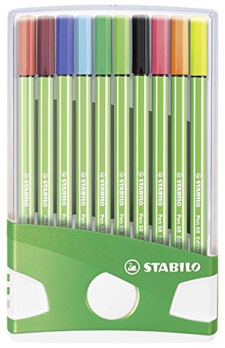 Premium-Filzstift - STABILO Pen 68 Fußball Edition - 20er ColorParade - mit 20 verschiedenen Farben