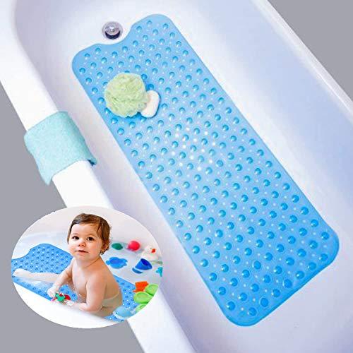 Nifogo Duschmatte, Anti rutsch badewanne, Badewannenmatte, rutschfeste Badematte für Badewanne, Naturkautschuk mit super Saugnäpfe, Schimmel resistente, Antibakterielle, 100cm X40cm (Blau)