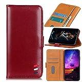 TingYR Case for vivo V21 Cover, Cover Flip Case Stylish Wallet Case with Card Slots Shockproof, Case for vivo V21 Smartphone.(Red)