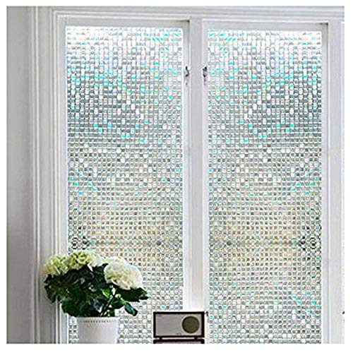 """Niviy Window Film Privacy Non-Adhesive Decorative Window Film 35.4"""" by 78.7"""" Static Cling Anti UV Heat Control for Home Kitchen Office"""