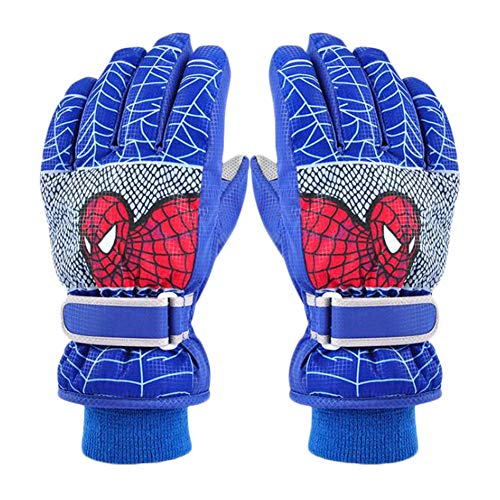 AiLike Waterproof Ski Gloves Winter Warm Snow Glove for Children Kids Boys Girls (Blue, S For Height:43.3'-49.2'; Age:4-6 yrs)