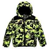 Wantdo Boy's Water Resitant Puffer Jacket Thick Padded Winter Coat 14/16 Green