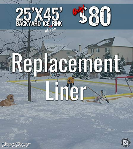 NiceRink NRCS 25x45 Replacement Backyard Ice Rink Liner