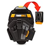 ToughBuilt - Large Drill Holster Pouch with 6 Pockets (Patented ClipTech Hub & Work Belts) (TB-CT-20-L)