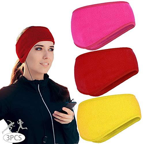 MEISHANG 3PCS Stirnbänder Winter Damen Sport Ohrenschützer Thermal Headband Stirnbänder Winter Ohrenwärmer Sport Ohrenschützer Damen Sport-Stirnband Damen Stirnband Sport Winter