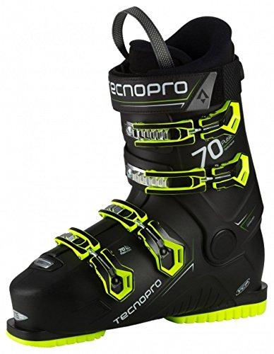Tecnopro Pulse 70 - Botas de esquí para Hombre, Color Negro y Amarillo, Talla 30