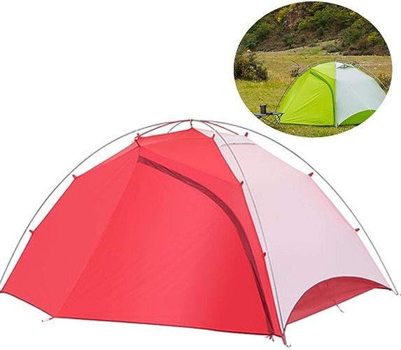 AWSCDCS Tente Tente de Camping - Plein air Camping Sauvage mat Double en Aluminium Anti-Pluie et Coupe-Vent Double Support extérieur