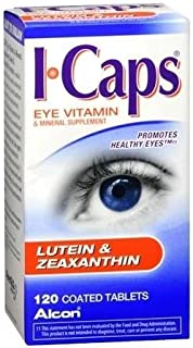ICAPS Lutein & Zeaxanthin Eye Vitamin & Mineral Supplement Tablets 120 TB - Buy Packs and SAVE (Pack of 2)