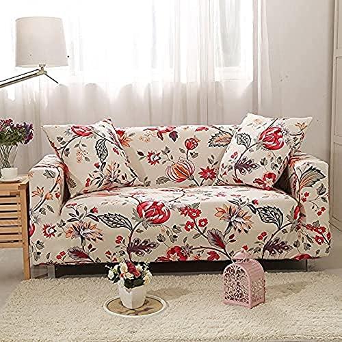 POPXP Fundas de sofá de 1 2 3 4 plazas de elastano elástico para sofá firmemente envueltas en todo incluido, funda de sofá modular para proteger muebles A11, 1 plaza, lavable