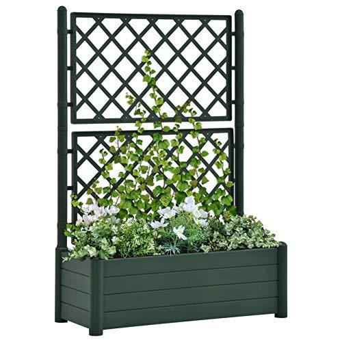 Festnight Jardinera con Enrejado |Jardinera con Celosia Verde