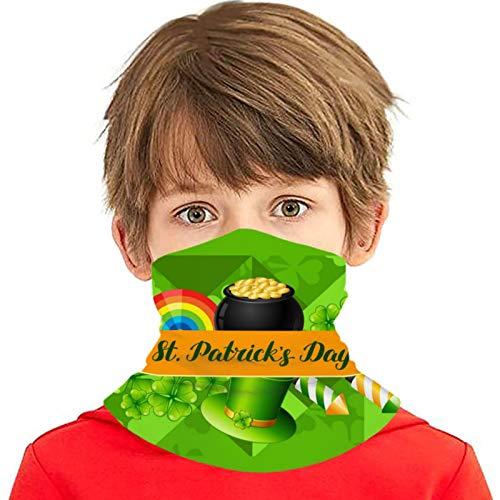 ZVEZVI Bandera del día de San Patricio Versátil Multifunción Sombreros Cuello Polaina Pasamontañas Forro del casco Cubierta facial para montar para niños al aire libre Protección UV