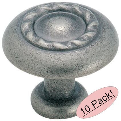 Amerock BP1585-WN Inspirations Rope Weathered Nickel Cabinet Hardware Knob - 1-1/4