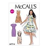 McCall's Patterns McCall Pattern 7714-Cartamodello per Abiti da Donna, Taglie dalla 6 alla 44, Tessuto, Multicolore, 17.00 x 0.5 x 0.070 cm