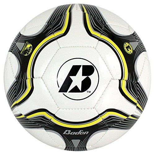 Baden Low Bounce Futsal Practice Ball, Black/Yellow, 4