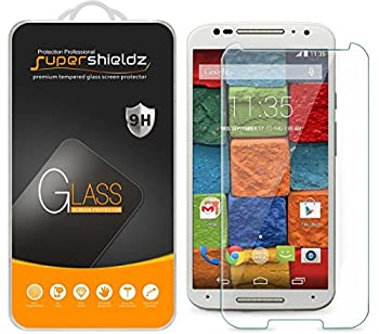 3 Pack  Supershieldz for Motorola Moto X  2nd Generation  Tempered Glass Screen Protector Anti Scratch Bubble Free
