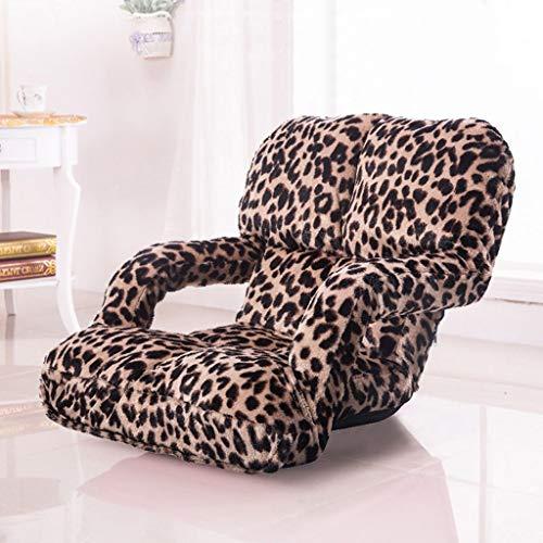 YLCJ Opvouwbare stoel Luie bank Enkele stoel voor vrije tijd Eenvoudige en verwijderbare bank ligstoel balkon met armleuningen Chaise longue (Kleur: 2)