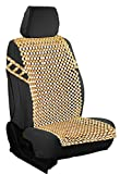 Zento Deals Natural Royal Wood Bead Seat Cover Massage Cool Premium Comfort Cushion- Reduces Fatigue The Car or Truck or Your Office Chair