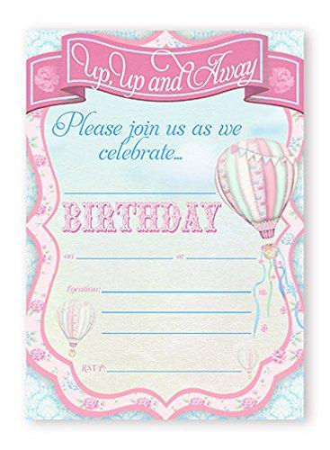 hot air balloon invitations - 1