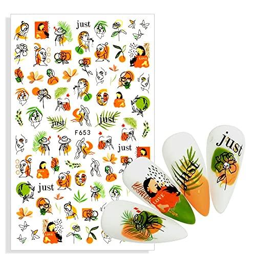 PMSMT 1 Hoja Verde Lindo 3D Hoja Pegatina Pegatinas Personalidad Linda Clip Art Diario decoración calcomanías Nail Art Supplies