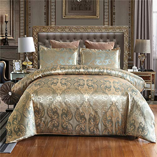 Bedding set duvet cover solid color jacquard high-definition printing three-piece lining 100% polyester gift (1 quilt cover + 2 pillowcases)