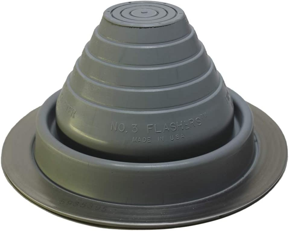 Flashers #3 Grey EPDM Flexible Roof Boot Jack Metal New Orleans Mall Pipe wholesale Roofing