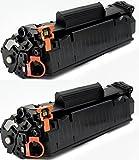 Printing Saver 712 Negro (2) Cartuchos de Tóner para Canon i-SENSYS LBP-3010, 3100, LaserShot LBP-3018, 3108, 3050, 3150, 3010, 3100