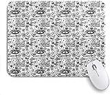Gaming Mouse Pads, Casino Bosquejo de boceto de Casino Ruleta de Whisky Cigarro, Base de Goma Antideslizante Materias de ratón para computadora portátil, computadora, hogar, Oficina Mousepad